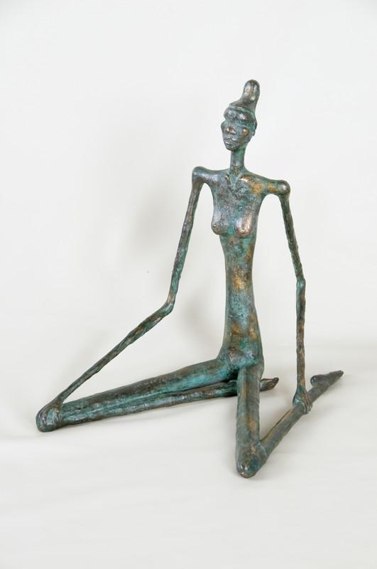 Donna seduta 1992 -bronzo -cm 57x44x58
