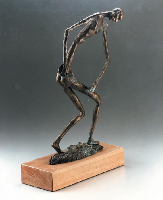 Atleta -Discobolo 1987-bronzo -h cm 43