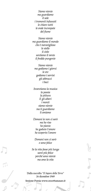 Testo Poetico di Mauro Crocetta